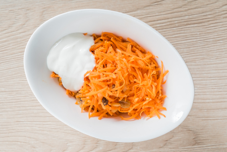 carrot salad with sour cream 写真素材