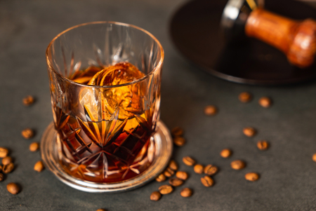 coffee old fashioned cocktail
