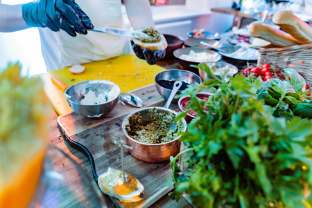 catering service on the party Stock Photo