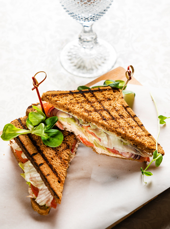 sandwich with ham and tomatoes Stock fotó - 121194661