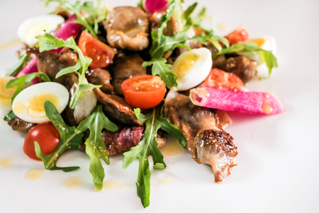 Warm salad with duck