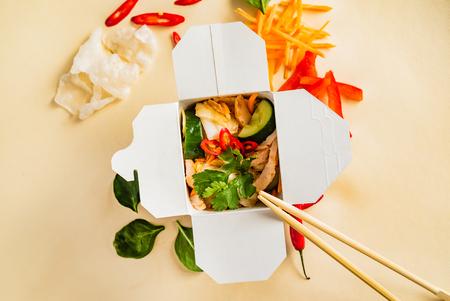 Take-out noodle box