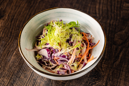 cabbage salad in the bowl