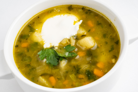 vegetable soup with sour cream