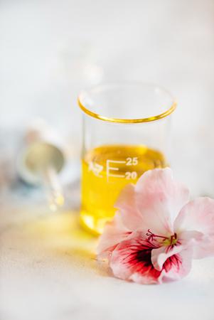 Aloe with Massage Oil Standard-Bild - 122500398