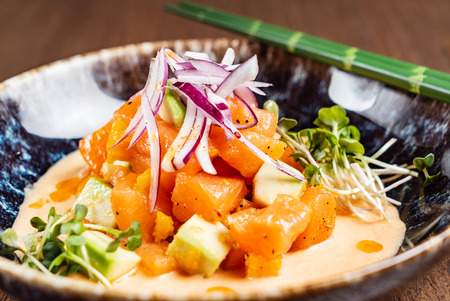 seafood ceviche on the ice Stock Photo