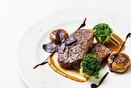 steak with vegetables 写真素材