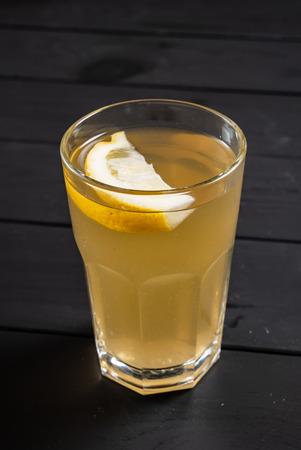 summer lemonade on the wooden background