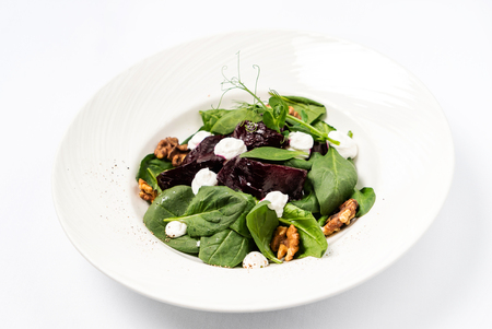 Salad with beetroot and spinach Stockfoto