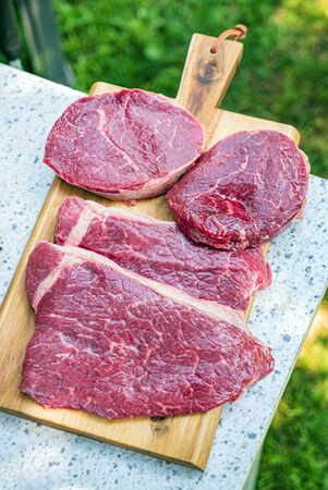 Fresh meat for beef steak