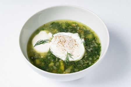 Spring soup with nettle and egg