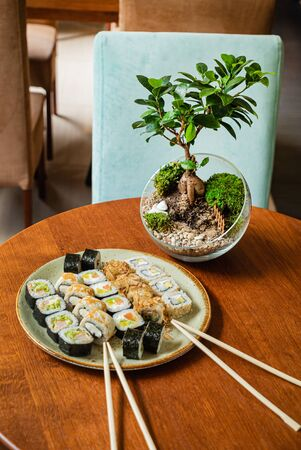 sushi set in the restaurant