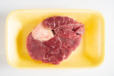 beef meat on the white background