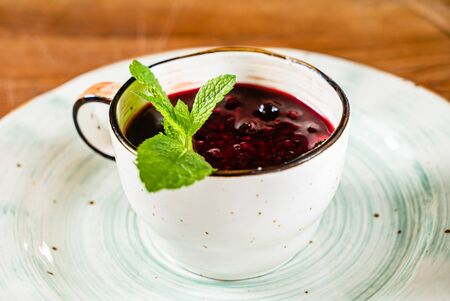 Berry dessert in the cup