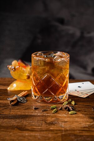cocktail with cinnamon and cardamom