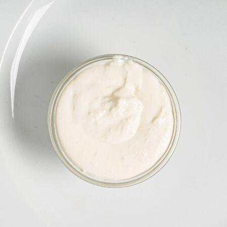 sour cream in the bowl