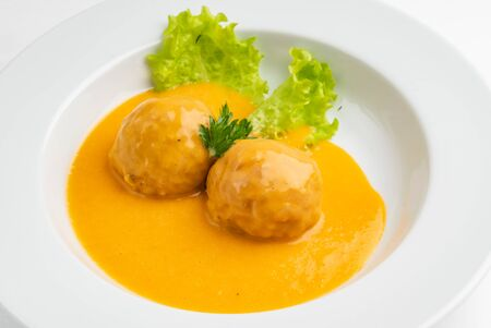 meatballs in the sauce Stock Photo - 127386369