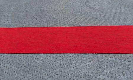 tappeto rosso all'aperto