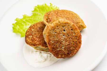 potato pancakes on the white plate