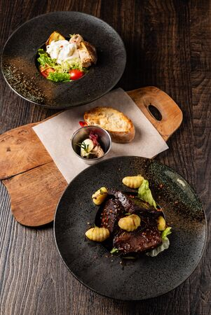 dinner in the restaurant Stockfoto