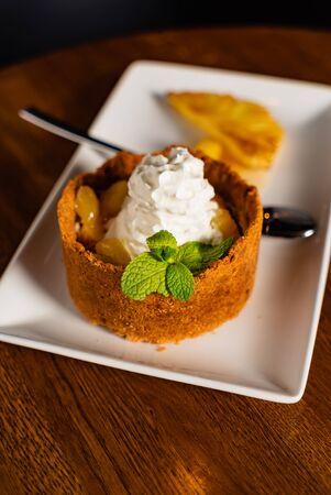 dessert with pineapple Stock Photo