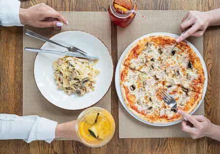 pizza in the italian restaurant
