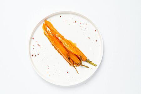 fermented carrot with balsamic sauce 版權商用圖片