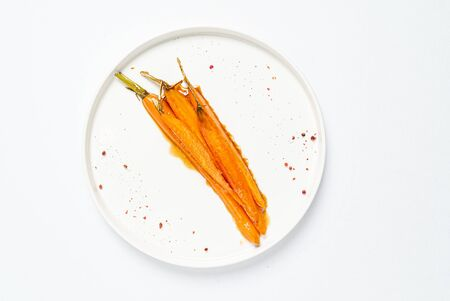 fermented carrot with balsamic sauce Archivio Fotografico - 128582968