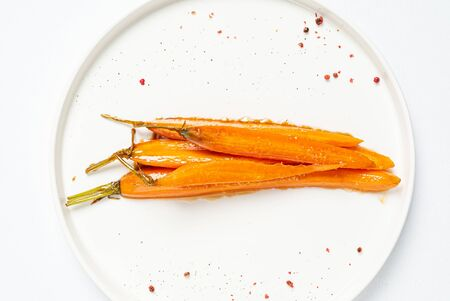 fermented carrot with balsamic sauce Stockfoto