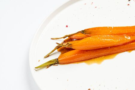 fermented carrot with balsamic sauce Archivio Fotografico - 128583130