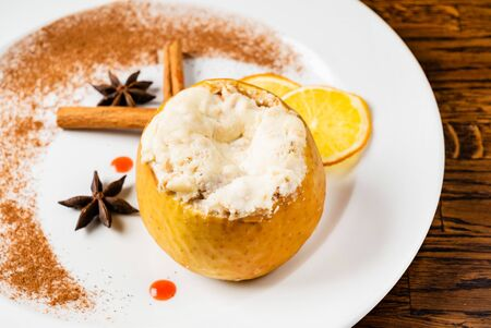 roasted apple with spices