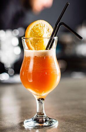 cocktail in the bar Reklamní fotografie - 129456177