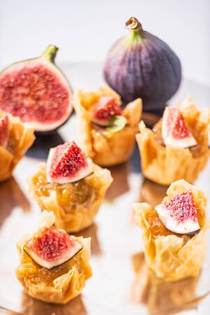 catering appetizers with fresh fig Reklamní fotografie