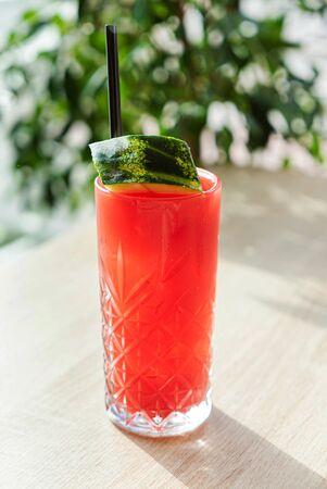 watermelon mocktail in the cafe Standard-Bild - 129461756