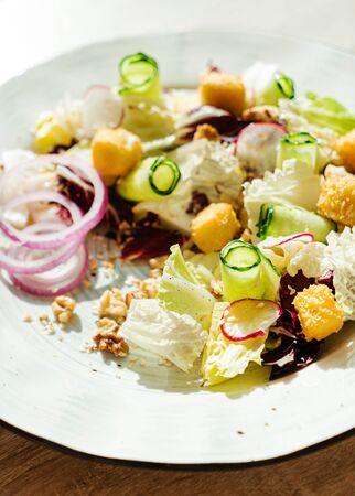 tasty salad in the cafe Zdjęcie Seryjne