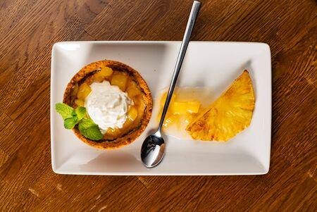 dessert with pineapple Stock fotó