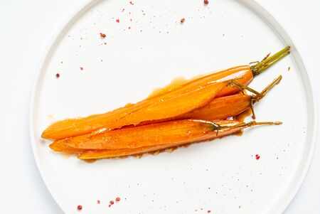fermented carrot with balsamic sauce Archivio Fotografico - 129566702