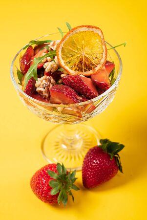 strawberry dessert in the bowl