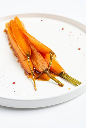 fermented carrot with balsamic sauce Archivio Fotografico - 129565707