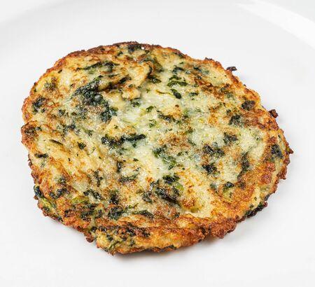 potato pancake on the white plate 版權商用圖片