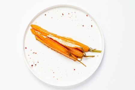 fermented carrot with balsamic sauce Archivio Fotografico - 129566506