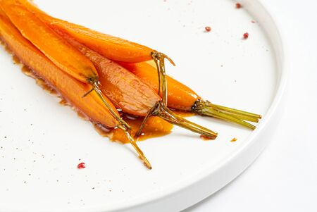 fermented carrot with balsamic sauce Archivio Fotografico - 129514263