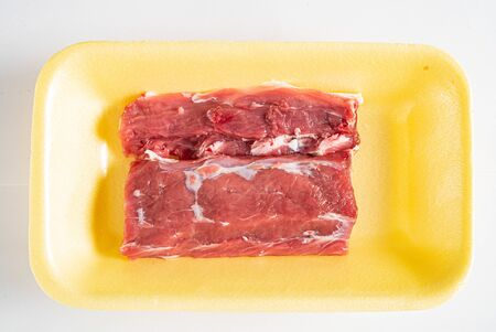 mutton meat on the white background