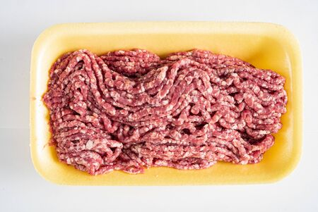 minced meat on the white background