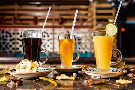 winter teas and infusions 版權商用圖片