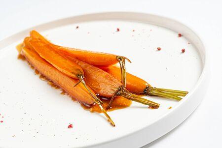 fermented carrot with balsamic sauce Stock fotó