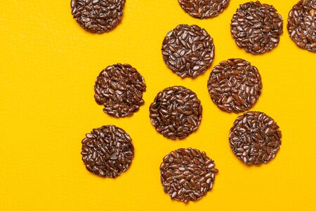 keto flax crackers, top view Stock Photo