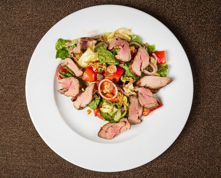 salad with beef and vegetables Stock fotó