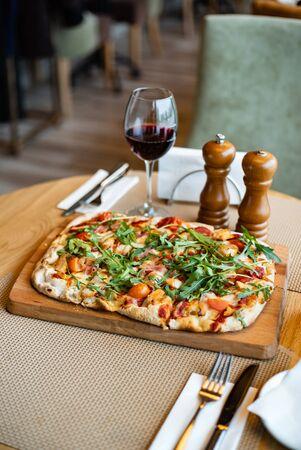 tasty pizza in the pizzeria Stockfoto