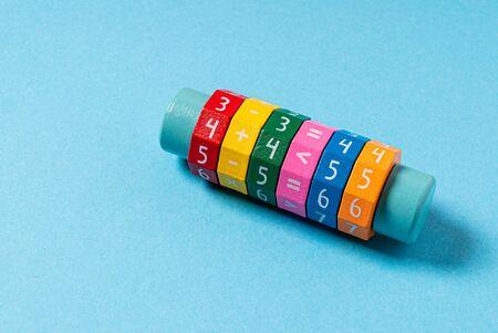 math tool on the blue background 版權商用圖片